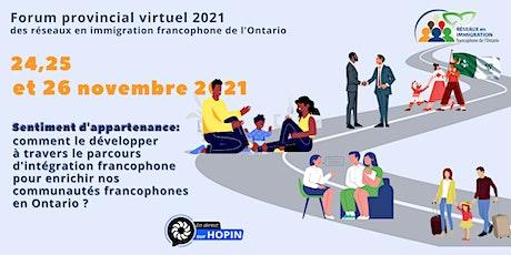 Forum provincial des réseaux en immigration francophone de l'Ontario billets