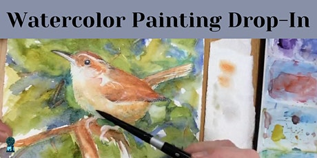 Watercolor Painting Drop-In: In-Person & On-line tickets