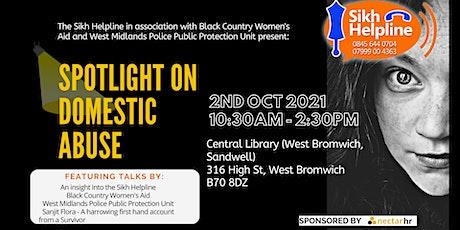 Spotlight on Domestic Abuse tickets