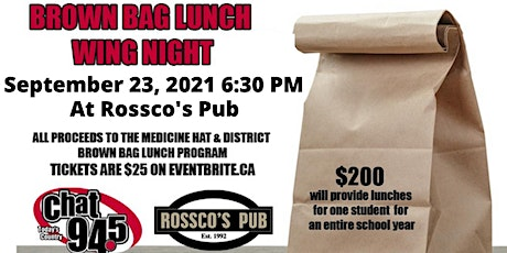 3rd Annual Brown Bag Lunch Wing Night! tickets