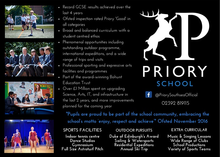 Priory School - Annual Yr 6 Open Evening image