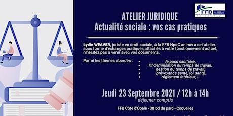 ACTUALITÉ JURIDIQUE SOCIALE - Atelier billets