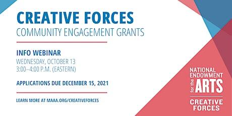 Creative Forces  Community Engagement Grant Program Informational Webinar tickets