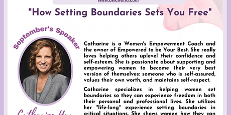 """""""How Setting Boundaries Sets You Free"""" - Business Women's Community tickets"""