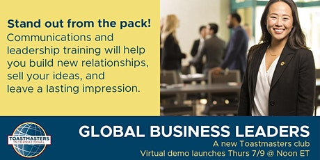 Global Business Leaders Toastmasters tickets