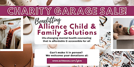 Charity Garage Sale for Mental Health Services tickets