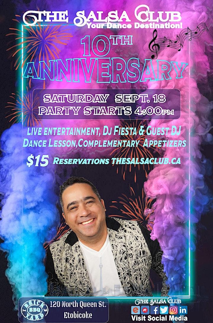 The Salsa Club's 10th Anniversary Celebration image