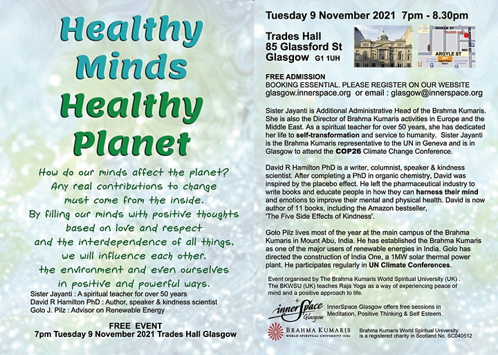 Healthy Minds, Healthy Planet (in Person) image