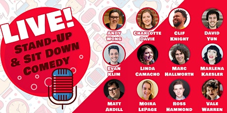 Stand Up & Sit Down Comedy - LIVE! tickets
