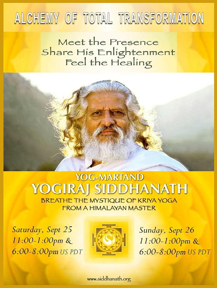 The Alchemy of Total Transformation - Webinar with Yogiraj Siddhanath image