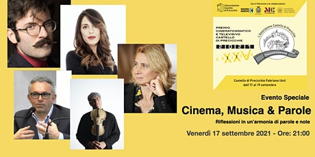 Cinema, Musica & Parole Riflessioni in un'armonia di parole e note biglietti