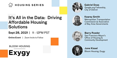 It's all in the Data: Driving Affordable Housing Solutions tickets