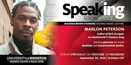 Speaking of Social Justice with Marlon Peterson tickets