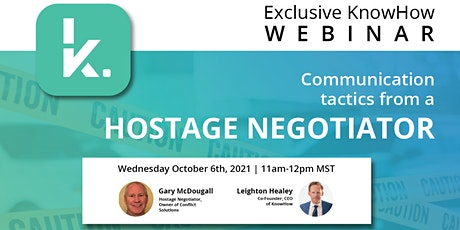 Communication in Restoration: Learn Tactics From a Hostage Negotiator! tickets