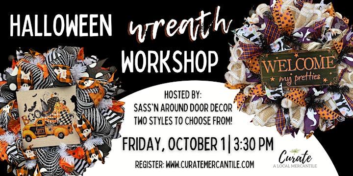 Halloween Wreath Workshop image