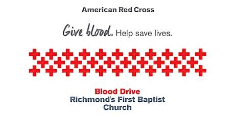 Blood Drive Richmond's First Baptist Church tickets