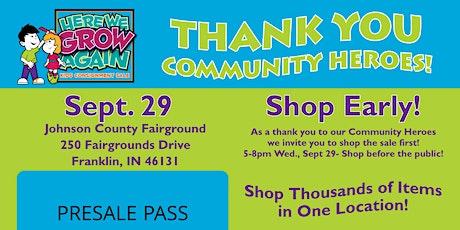 Community Hero Presale Pass tickets
