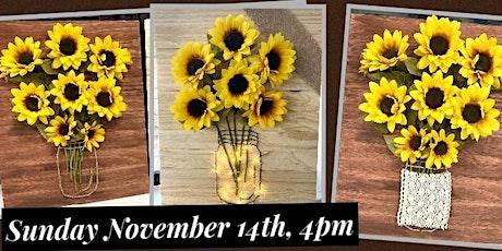 Lighted Sunflower Plaque Workshop tickets