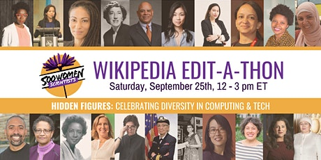 500 Women Scientists - Computing & Tech Wikipedia Edit-a-thon tickets