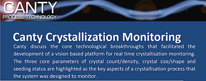 Canty SSPC Community Partnership seminar on Crystallisation Monitoring image
