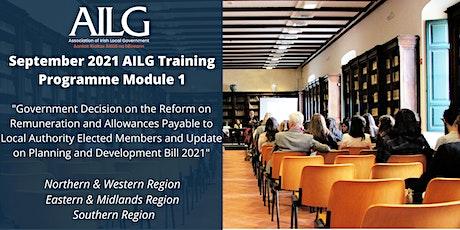 September 2021 AILG Training Programme  Module 1 tickets