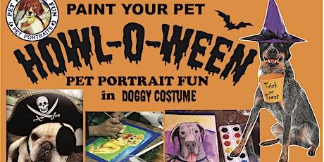 HOWLOWEEN Sip and Paint a Pet Portrait Fun- Barking Dog New York tickets