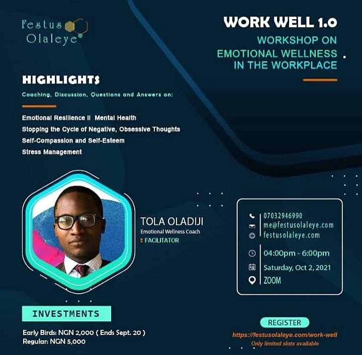 Work Well 1.0 - Workshop on emotional wellness in the workplace image