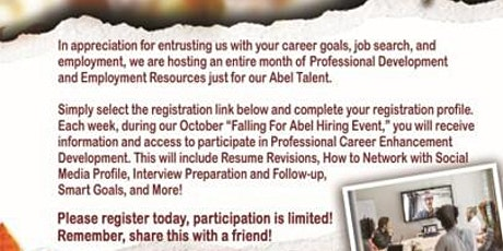 Abel Personnel Fall Talent Event Tickets