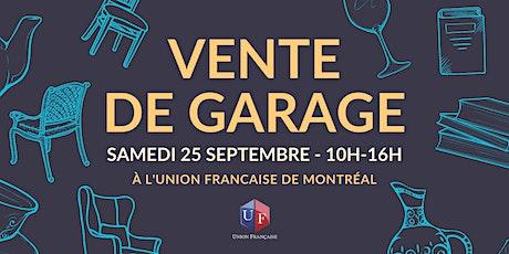 Vente de Garage à l'Union Française tickets