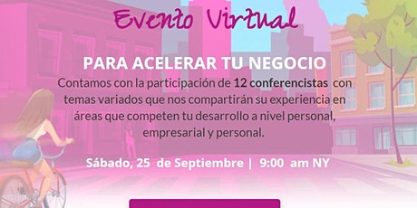 Evento Virtual  PARA ACELERAR TU NEGOCIO entradas