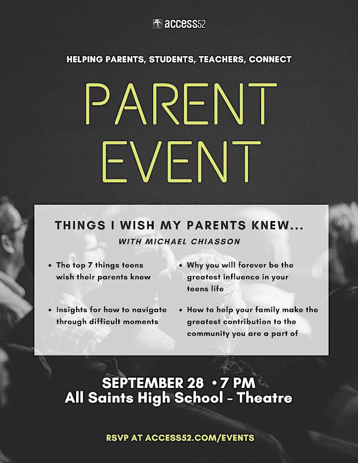 All Saints High School Parent Night (Sept 28, 2021) image