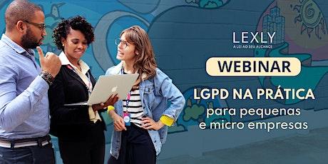 LGPD na prática para micro e pequenos empresários ingressos