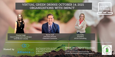 Virtual Green Drinks October 2021 - Organizations with Impact tickets