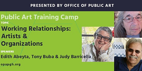 Public Art Training Camp: Working Relationships: Artists & Organizations tickets