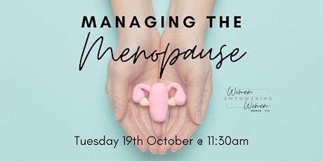 Managing the Menopause tickets