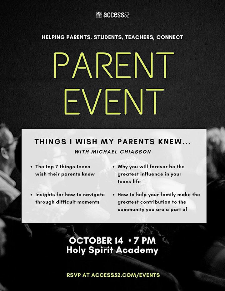 Holy Spirit Academy + Notre Dame Collegiate Parent Night (October 14, 2021) image