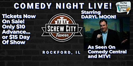 Rockford, IL   Pub & Grub Comedy with Daryl Moon + guest Jameson Cox! tickets
