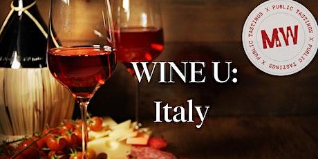 WINE U: Italy! tickets