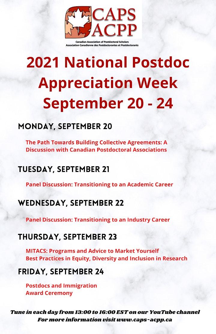 2021 National Postdoc Appreciation Week (September 20 -  24) image