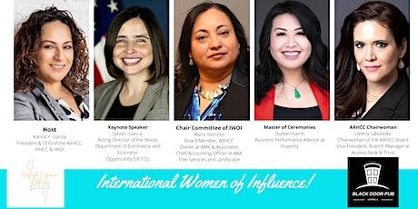 September  - International Women of Influence Luncheon tickets