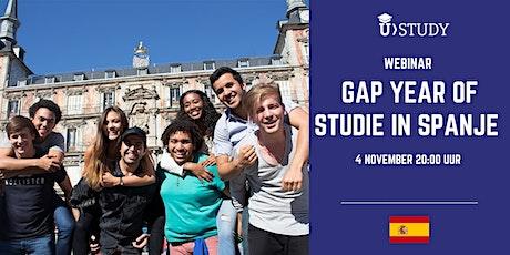 Gratis webinar Gap Year of Studie in Spanje tickets