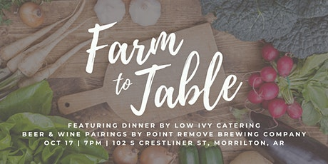 Point Remove Brewing Company Farm to Table Dinner with Low Ivy Catering tickets
