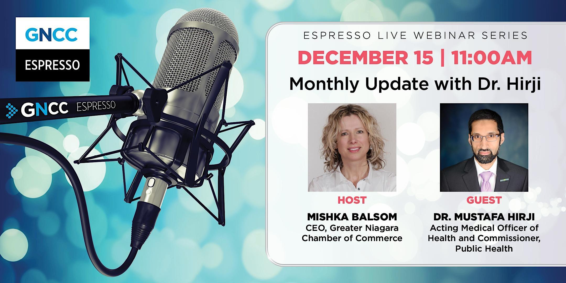 Espresso Live  with Dr. Hirji: December 15,  2021