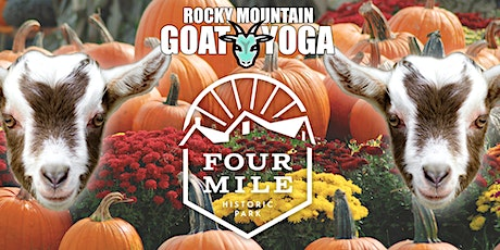 Sunset Baby Goat Yoga - October 1st  (FOUR MILE HISTORIC PARK) tickets