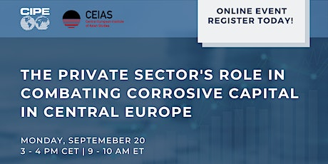 The Private Sector's Role in Combating Corrosive Capital in Central Europe tickets