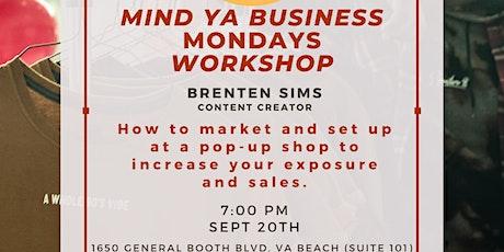 Mind Ya Business Mondays Workshop: Session 2 tickets
