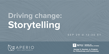 Driving change: Bold, Community-Centric Fundraising in Practice tickets