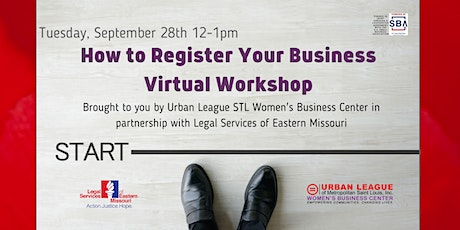 How to Register Your Business Virtual Workshop tickets