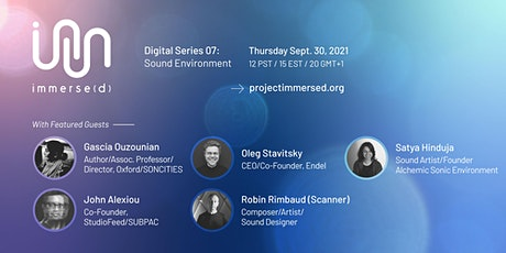 immersed digital 007 - Sound Environment tickets