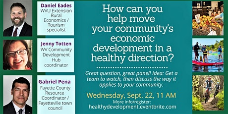Move your community's economic development in a healthy direction tickets